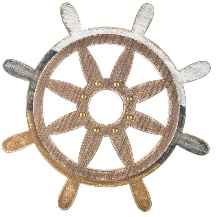 Rustic Ship Steering Wheel Wood Wall Decor Hobby Lobby 405191